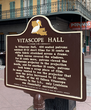 Vitascope Hall marker